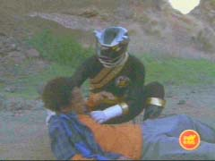 Black Ranger rescues Max