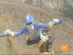 Blue and Black Rangers work together