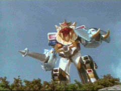 Wild Force Megazord (Sword & Shield Mode) is victorious