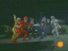 Wild Force Rangers show up to fight