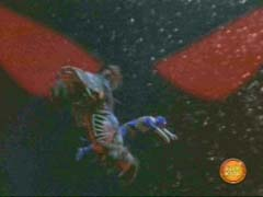 Blue Ranger is rescued by a strange beast