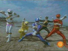 Wild Force Rangers fight together