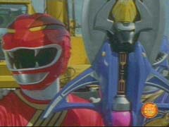Red Ranger powers up the Jungle Sword