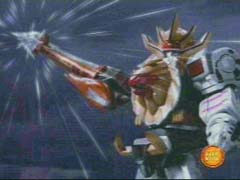 Wild Force Megazord (Spear Mode) is activated