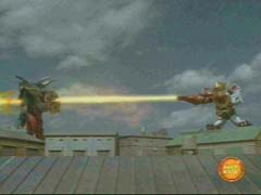 Megazord uses the Spear of Pardolus