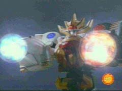 Wild Force Megazord (Double Knuckle Mode) is formed